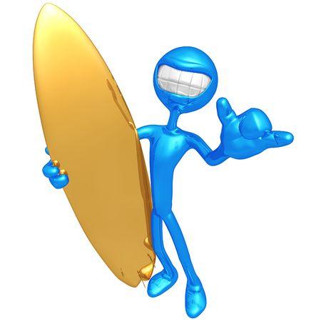Smiling Surfer photo