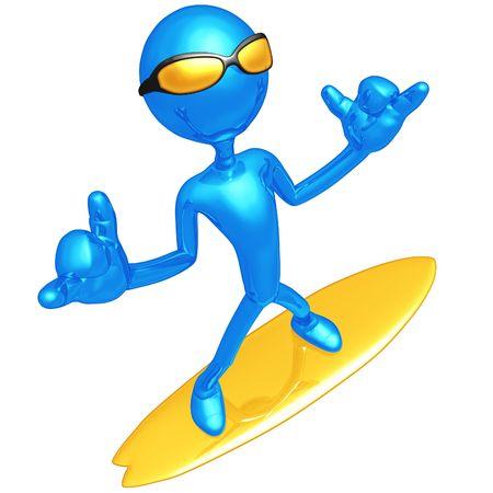 hang loose: Hang Loose Surfer Stock Photo