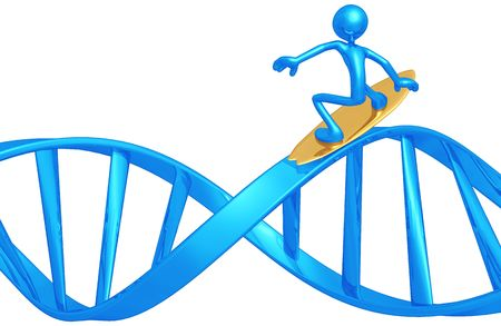Surfing DNA Stock Photo - 4746348