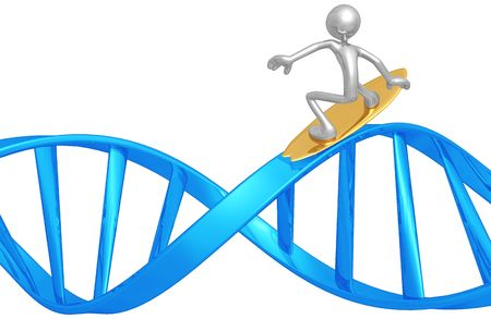 Surfing DNA Stock Photo - 4746344