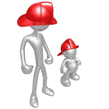 copycat: Original and Copycat Firefighter