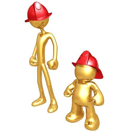 pathetic: Original and Copycat Firefighter