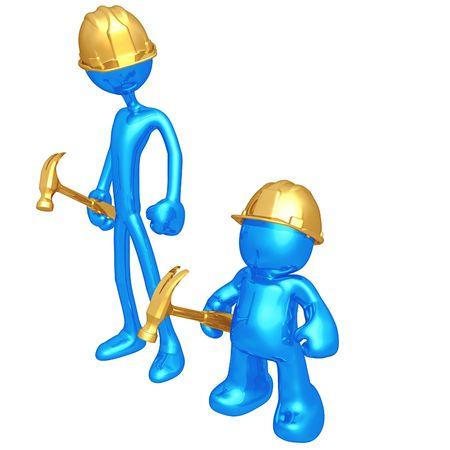 copycat: Original and Copycat Construction Worker