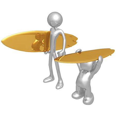poser: Original and Copycat Wannabe Poser Surfer