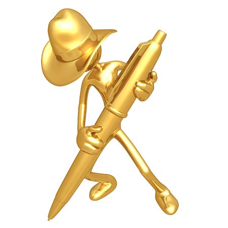 blogging: Cowboy With Gold Pen