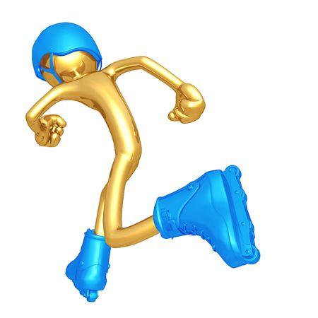 inline:  Aggressive Inline Skating Stock Photo