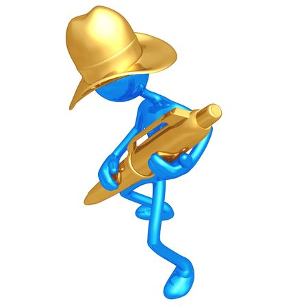 Cowboy With Gold Pen photo