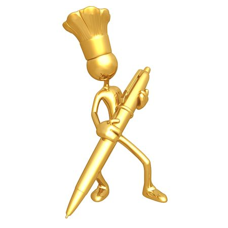 Chef With Gold Pen photo