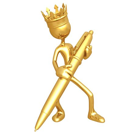 King With Gold Pen photo