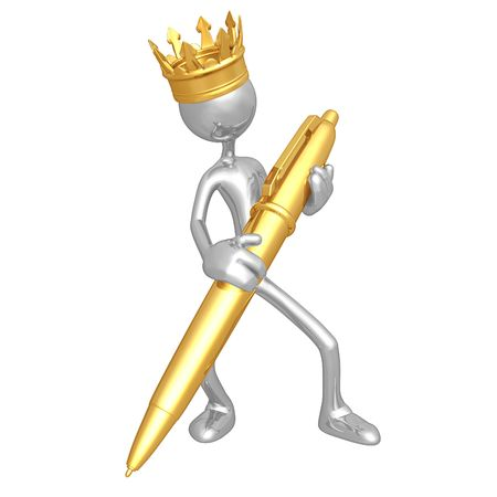 writer: King With Gold Pen