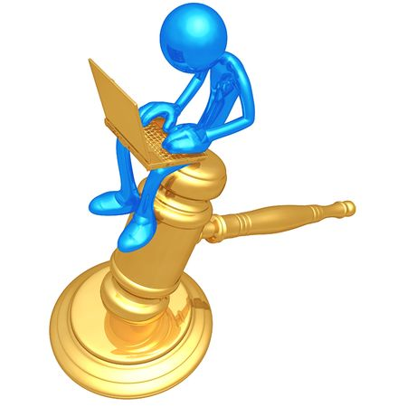 Legal Research Online Stock Photo - 4758852