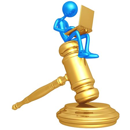 Legal Research Online Stock Photo - 4758847