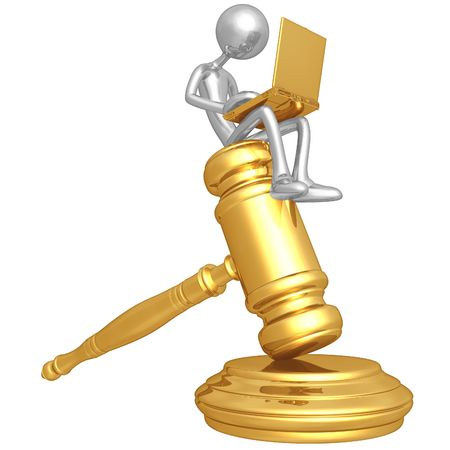 Legal Research Online Stock Photo - 4758845