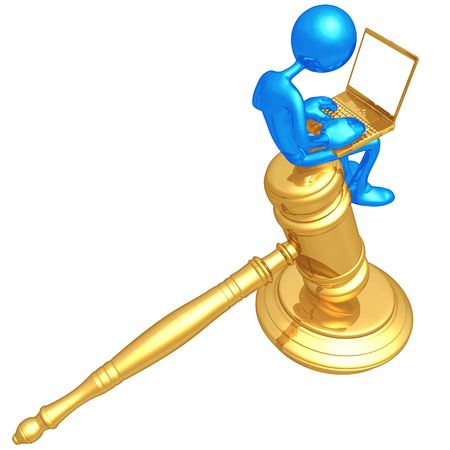 Legal Research Online Stock Photo - 4758836