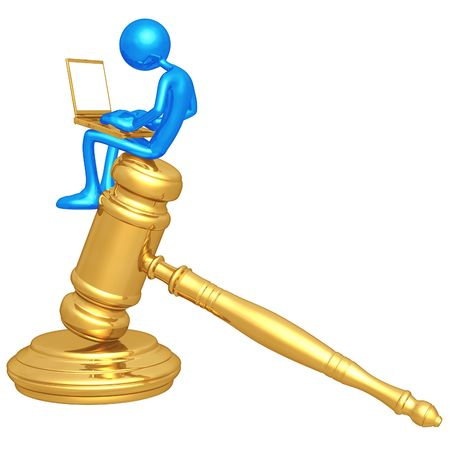 Legal Research Online Stock Photo - 4758833