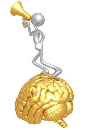 brain illustration: Speak Your Mind