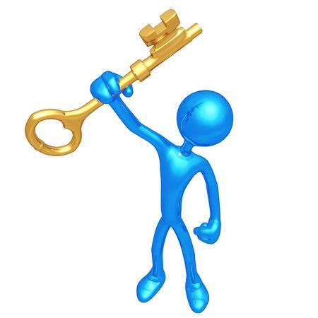 Holding The Golden Key photo