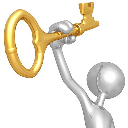 Holding The Golden Key Stock Photo - 4759229
