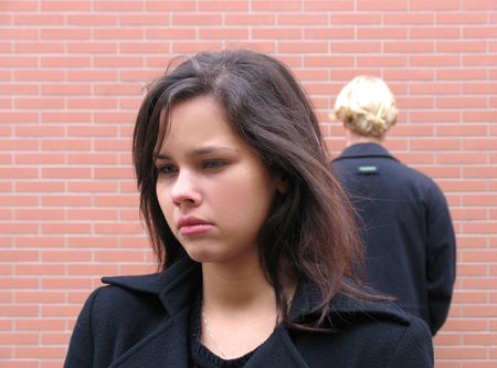 Couple arguing, mad, sadness because misunderstanding photo