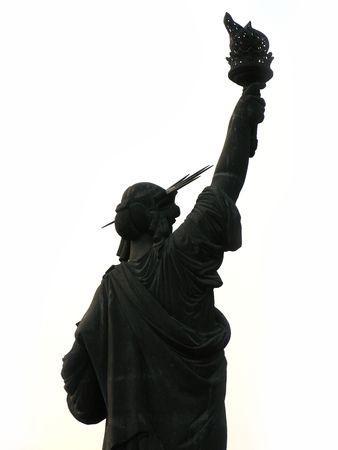 Statue of Libertys replica in a theme park in Shengzheng, China