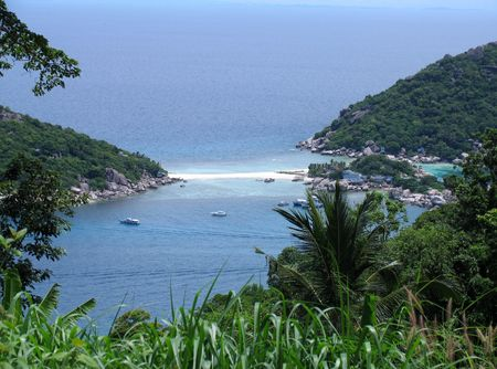 bottomless: View at the beach, Ko Thao Island, Thailand