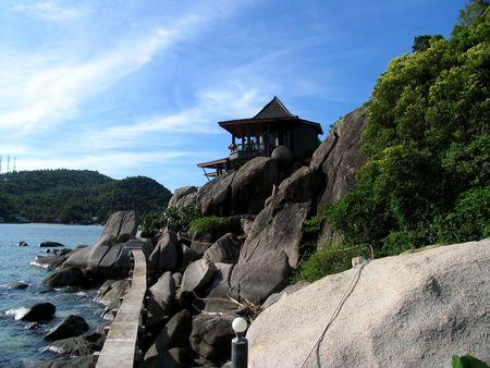 Beautiful home at the beach, Ko Thao Island, Thailand Stock Photo