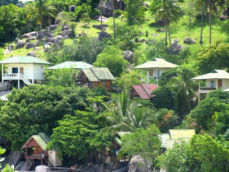 bottomless: Beautiful home at the beach, Ko Thao Island, Thailand Stock Photo