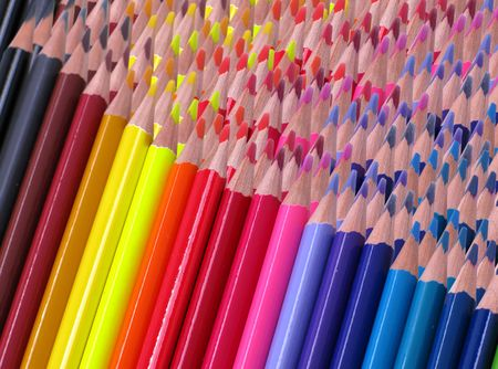Pencil color ready to be used, in a whiye background