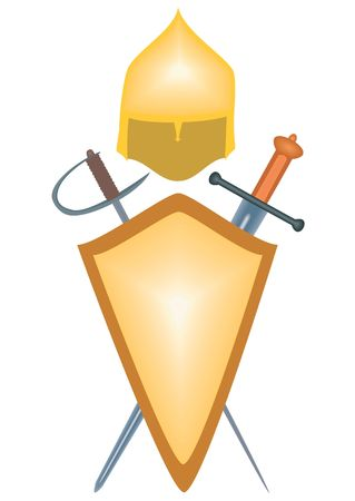 seventeenth: Illustration arms warrior - the tenth, seventeenth century, on a white background.  Stock Photo