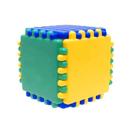 collapsible: Cube collapsible on a white background.