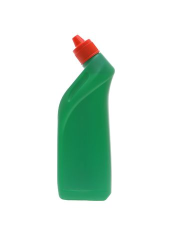 wash dishes: Washing-up liquids in bottles on a white background.