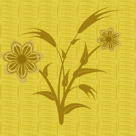 beautify: Seamless pattern abstract flowers, file EPS 8 illustration