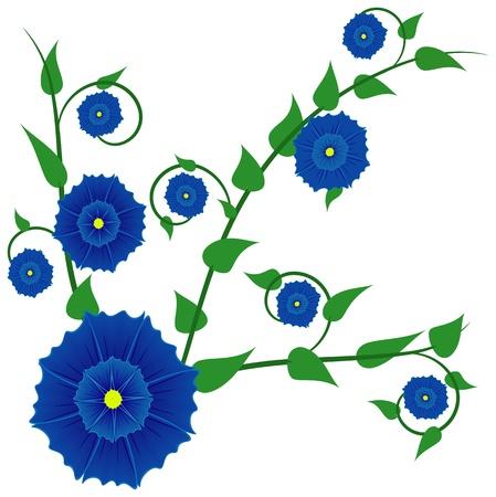 sedate: Abstract blue flower, file EPS 8 illustration  Illustration