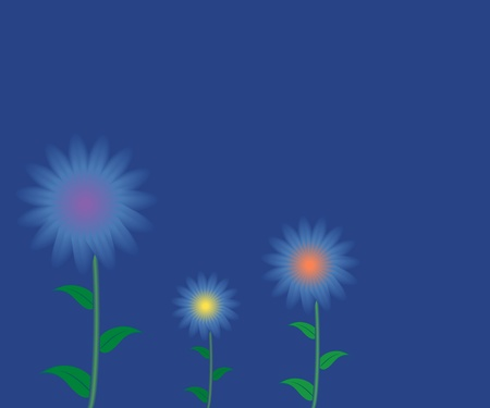 horizon over land: Abstract flower background