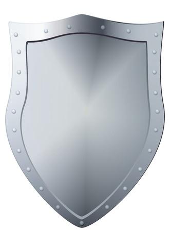 Metal shield, file illustration  Stock Vector - 13005742