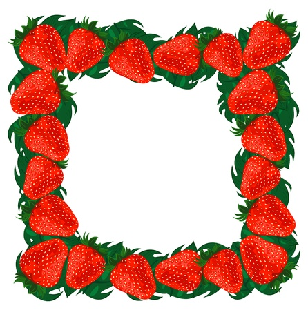 Frame strawberries, file illustration  Vector
