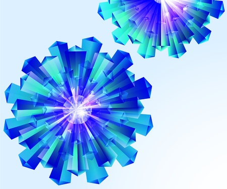 adamant: Abstract, crystal, floral, EPS10 - vector graphics