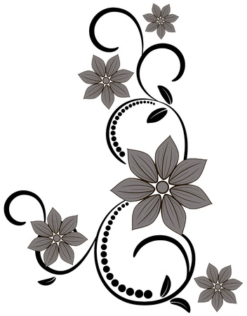 design floral: Ornament vintage floral design Illustration