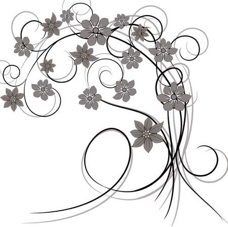 Ornament vintage floral design Vector