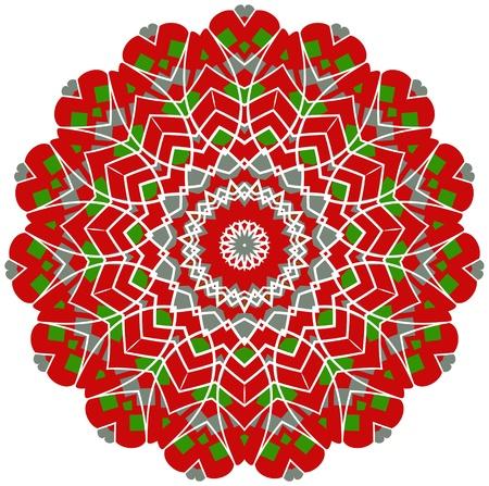 Circle floral ornament Vector