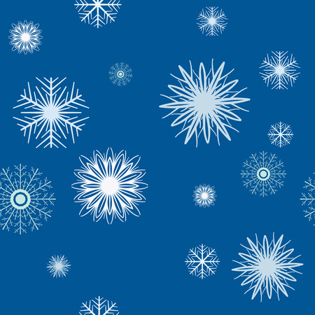Blue background with snowflakes, seamless pattern Vector