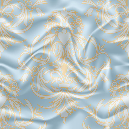 satiny cloth: Wrinkled fabric, silk, seamless pattern, EPS10 - vector graphics.