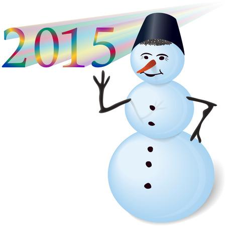 Snowman design element Vector