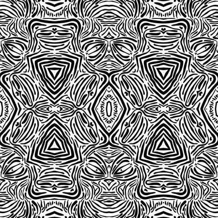 eps8: Arabian black and white seamless ornament, EPS8 - vector graphics. Illustration