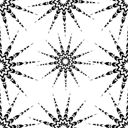 starlight: Starlight black and white seamless ornament, EPS8 - vector graphics.