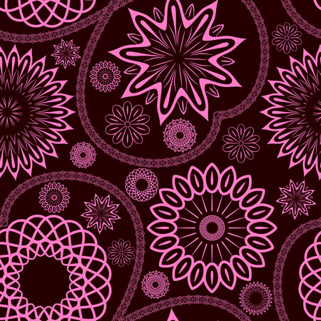 Elegant floral seamless ornament, EPS8 - vector graphics. Illustration