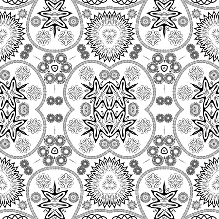 eps8: Arabic style black and white seamless pattern, EPS8 - vector graphics. Illustration