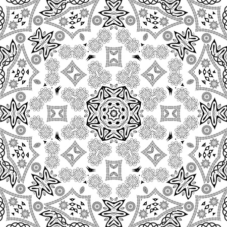 eps8: Black and white seamless pattern Arab motifs, EPS8 - vector graphics.