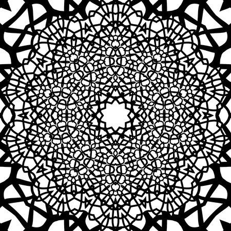 eps8: Elegant grille black and white seamless pattern, EPS8 - vector graphics.