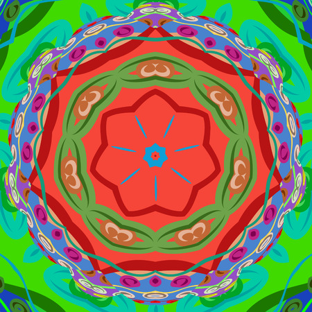 eps8: Color flower elegant ornament, EPS8 - vector graphics.